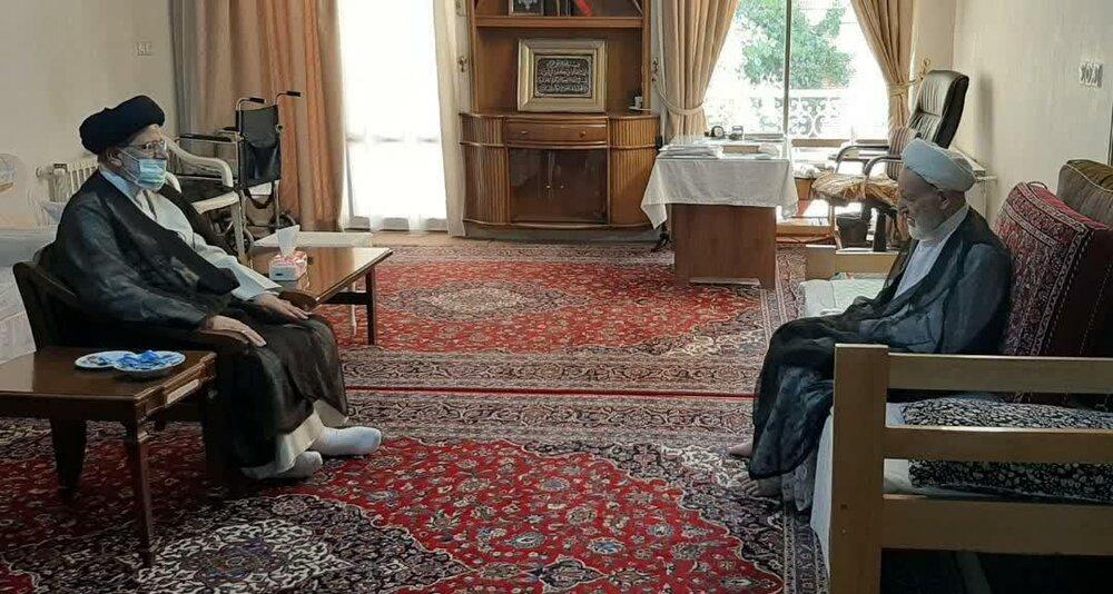 دیدار رئیس دستگاه قضا با رئیس شورای عالی جامعه مدرسین