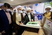 بازدید آیت الله اعرافی از نمایشگاه دستاوردهای معاونت آموزش حوزه های علمیه