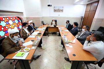 تصاویر/ نشست مدیران منابع انسانی و پشتیبانی حوزه با آیت الله اعرافی