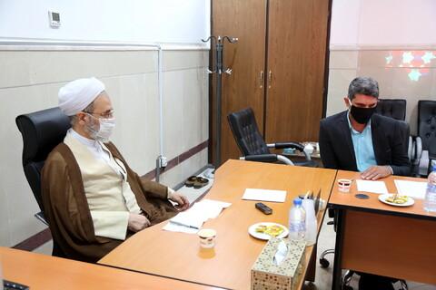نشست مدیران منابع انسانی و پشتیبانی حوزه با آیت الله اعرافی