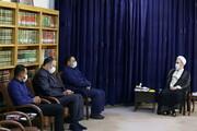 تصاویر/ دیدار مسئولین هیئت خادم الرضا قم با آیت الله اعرافی