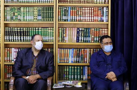 تصاویر/ دیدار مسئولین هیئت خادم الرضا قم با ایت الله اعرافی