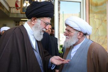 تصاویری از مرحوم آیت الله تسخیری در کنار رهبر معظم انقلاب