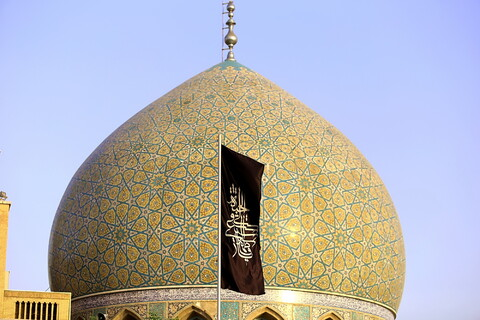 آئین سیاه پوش کردن حرم حضرت معصومه در آستانه ماه محرم