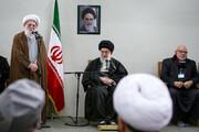 بالصور/ الفقيد آية الله التسخيري مع قائد الثورة الإسلامية