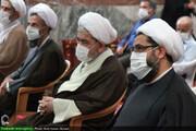 بالصور/ مؤتمر أئمة الجماعة وهيئة الأمناء وقادة قوات التعبئة بمناسبة اليوم العالمي للمساجد بمدينة همدان الإيرانية