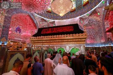 تصاویر/ سیاهپوش شدن حرم حضرت امیرالمؤمنین(ع) در آستانه ماه محرم