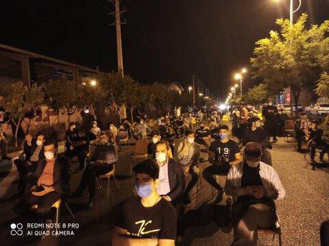 تجمع هیئات مذهبی ساوجبلاغ در استقبال از محرم در فضای باز