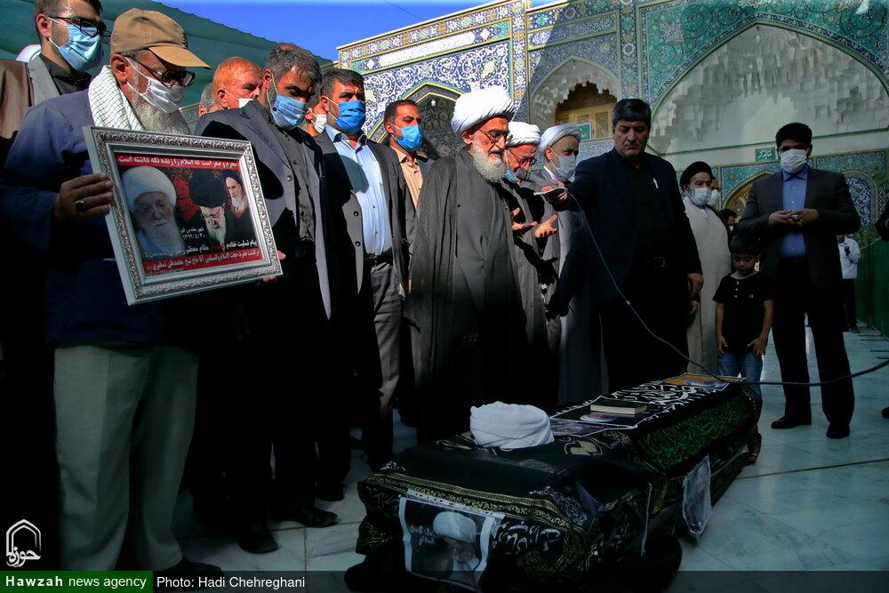 تصویر/ آیت اللہ تسخیری کی تدفین،حرم معصومہ قم سلام اللہ علیہا