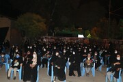 تصاویر/ مراسم عزاداری شب دوم محرم در محوطه حسینیه ثارالله همدان