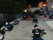 تصاویر/ برگزاری مراسم عزای حسینی در مدرسه علمیه قروه با رعایت پروتکل های بهداشتی