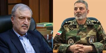 فرمانده کل ارتش روز پزشک و داروساز را به وزیر بهداشت تبریک گفت