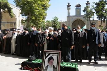 پیکر آیت الله علم الهدی(ره) در تهران تشییع شد + عکس
