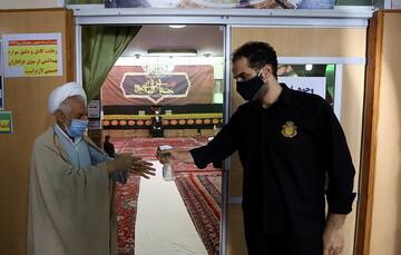 تصاویر/ مراسم عزاداری اباعبدالله الحسین(ع) در بیوت مراجع و علما
