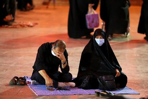 تصاویر/ حال و هوای حرم حضرت معصومه در شب سوم محرم