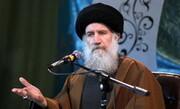 مسئول ارتباطات حوزوی دفتر رهبر انقلاب از استاد فاطمی نیا عیادت کرد