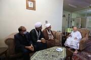 دیدار هیئت اعزامی آیتالله اعرافی با خطیب پیشکسوت حوزوی