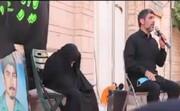 فیلم   روضه خوانی حاج مهدی سلحشور  مقابل منزل مادر شهیدان کارکوبزاده در قم