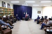 تصاویر/ دیدار قاضیزاده هاشمی نائب رئیس اول مجلس شورای اسلامی با آیت الله اعرافی