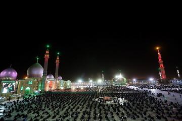 تصاویر/ عزاداری هیئت فاطمیون در مسجد مقدس جمکران