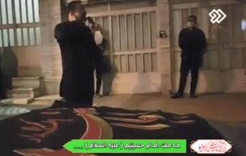 فیلم| عزاداری ساکنان محله هفده شهریور با تکیه سیار محمود کریمی
