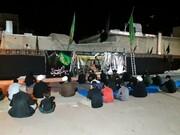 تصاویر/ مراسم عزاداری امام حسین در مدرسه علمیه امام باقر(ع) کامیاران