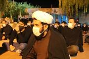 تصاویر/ اقامه عزای حسینی در گلزار شهدای گمنام سنندج با حضور طلاب و روحانیون