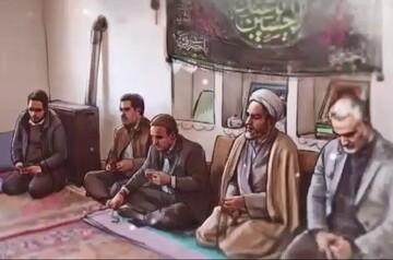 فیلم| روضه خانگی سردار سلیمانی در ماه محرم