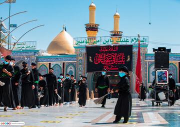 بالصور/شاهد مراسيم عاشوراء في مدينة كربلاء المقدسة يوم الخامس من شهر محرم