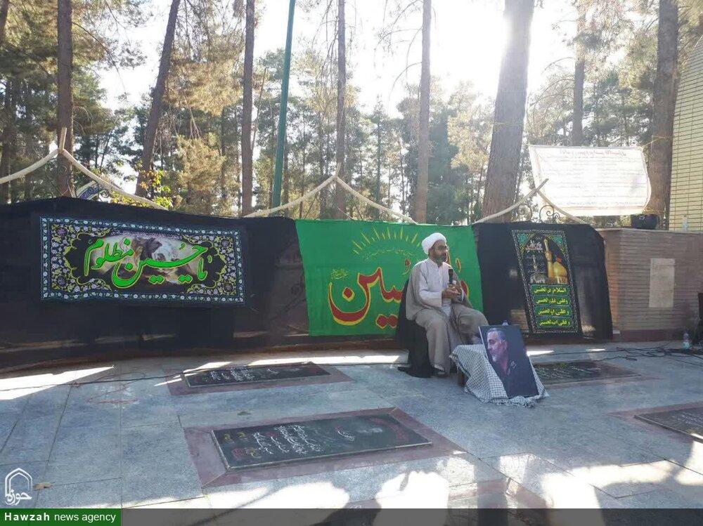 تصاویر/ عزاداری طلاب مدرسه علمیه خواهران کوهدشت در فضای باز