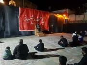 تصاویر/ مراسم عزاداری در مدرسه علمیه کامیاران