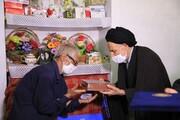 امام جمعه بیرجند به منزل شهید روحانی رفت