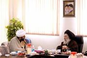 تصاویر/ حضور آیت الله جزایری در مرکز رسانه و فضای مجازی حوزههای علمیه