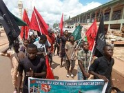 تظاهرات مردم در شهر زاریا نیجریه برای آزادی شیخ زکزاکی +تصاویر