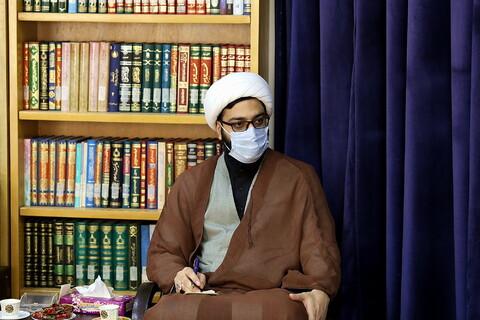 دیدار دبیران «هفتمین سوگواره مجازی اشراق» با آیت الله اعرافی