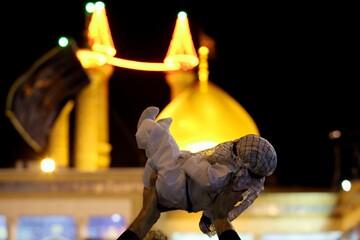 تصاویر/ حال و هوای حرم حضرت فاطمه معصومه(س) در شب هفتم محرم