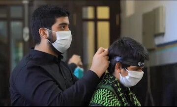 فیلم | تصاویری از سوگواره «احلی من العسل» در حرم رضوی