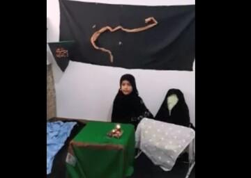 فیلم | شعرخوانی دختر خردسال برای امام حسین(ع)
