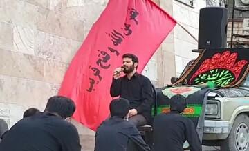 فیلم   روضهخوانی میثم مطیعی در کوچههای تهران