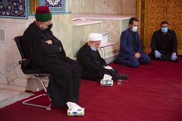 حضور نماینده آیتالله سیستانی در عزاداری حرم امام حسین(ع) + تصاویر