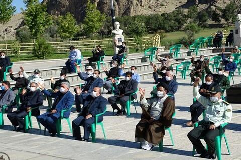 تصاویر/ عزاداری در جوار گلزار شهدای گمنام ماکو