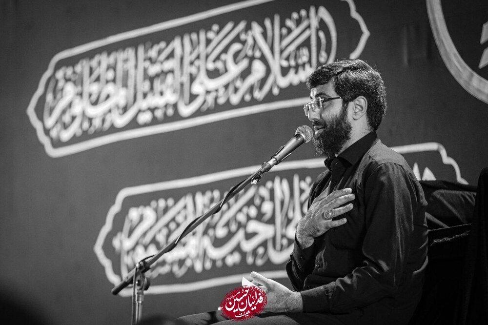 صوت | مداحی شب هفتم محرم ۹۹ با نوای سید رضا نریمانی