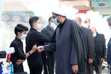 تصاویر / رعایت پروتکلهای بهداشتی توسط عزاداران حسینی در همدان