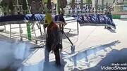 کلیپ | ضد عفونی هیئات و مساجد مراغه توسط تیم ضد عفونی حسینیه زندگی
