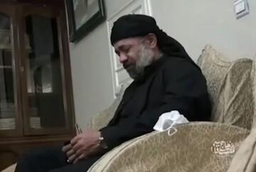 فیلم | ذکر مصیبت حاج محمود کریمی در منزل حاج قاسم سلیمانی