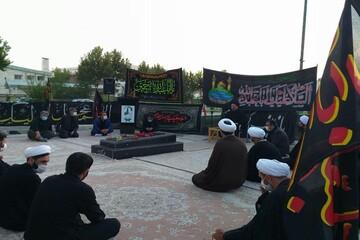 تصاویر/ مراسم عزاداری امام حسین(ع) در مدرسه علمیه امام علی (ع) سلماس