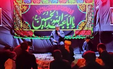 تصاویر/ اقامه عزای حسینی در هیئت فاطمیون شهرستان قروه