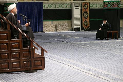 مجلس عزاء الإمام الحسين (عليه السلام) في ليلة تاسوعاء بحضور الإمام الخامنئي