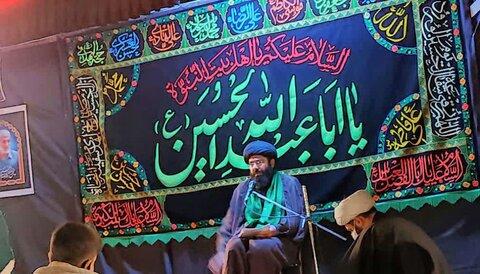 تصاویر/ مراسم اقامه عزای حسینی در هیات فاطمیون شهرستان قروه