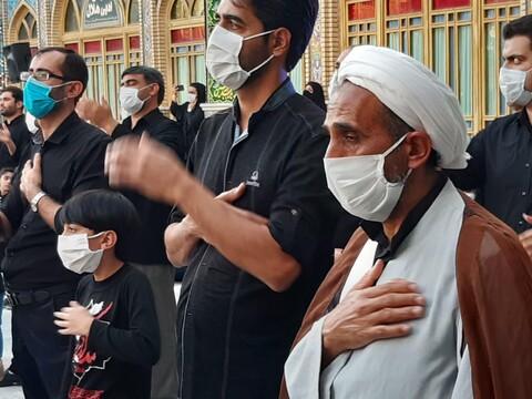 تصاویر/ عزاداری تاسوعای حسینی درحرم مطهر محمد هلال بن علی (ع) آران وبیدگل